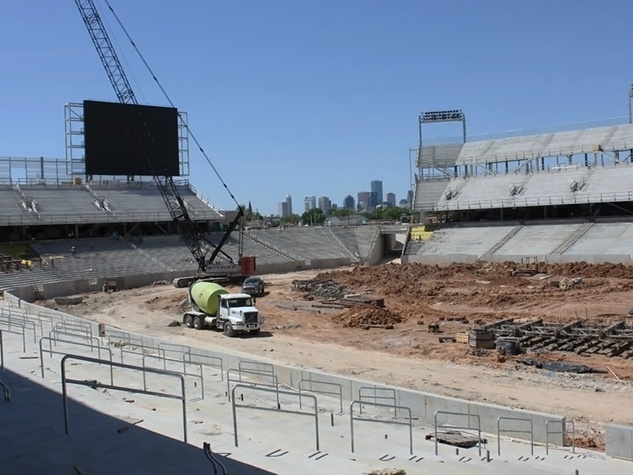 new University of Houston football stadium under construction June 2014