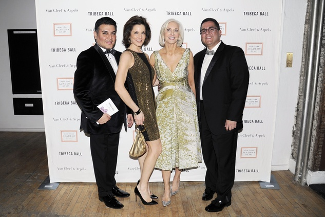 Edward Sanchez, from left, Jessica Rossman, Eileen Guggenheim and Dr. Roland Maldonado at the Tribeca Ball New York May 2014