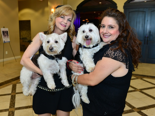 1 Kim Padgett with Cassidy, left, and Sonia Soto with Jesse at Bad to the Bone June 2014