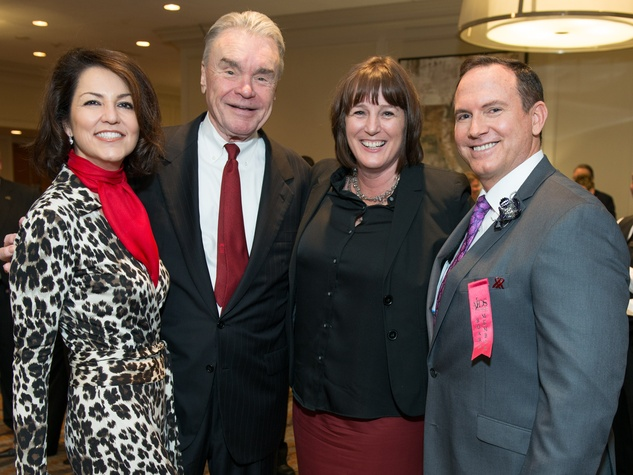 5 Jessica Rossman, from left, Gordon Bethune, Kelly Young and Travis Torrence at the AIDS Foundation Houston luncheon December 2014