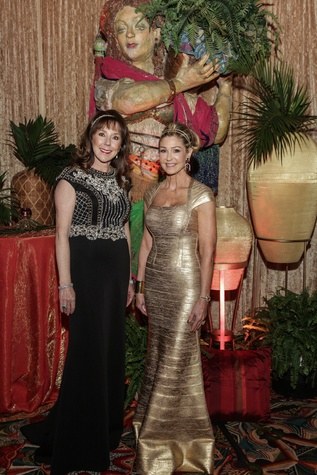 Elizabeth Stein, left, and Patti Murphy at the Winter Ball January 2015