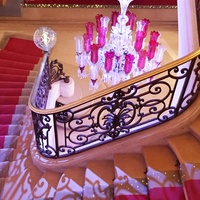 Cherri Carbonara Baccarat factory tour April 2015 Maison Baccarat grand staircase
