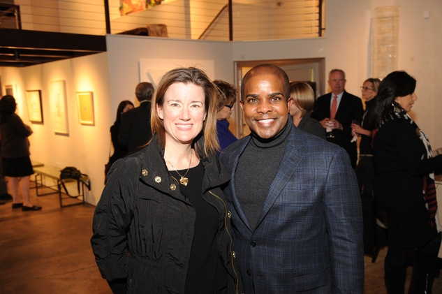 5 7193 Sara Kellner and Alton LaDay at the reception for Jamie Bennett November 2014
