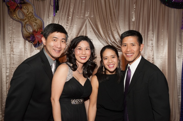 102 Dr. Sam and Terri Wang, from left, and Sofia and Dr. Richard Ou at the Eye Ball February 2015