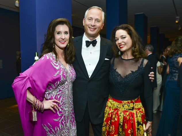 20 Phoebe and Bobby Tudor, left, with Maria Bassa at the MFAH Grand Gala Ball October 2013