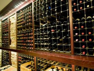 Wine cellar at Del Frisco's