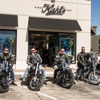 Kiehl's Texas Run at Highland Village October 2013 men on motorcycles outside store