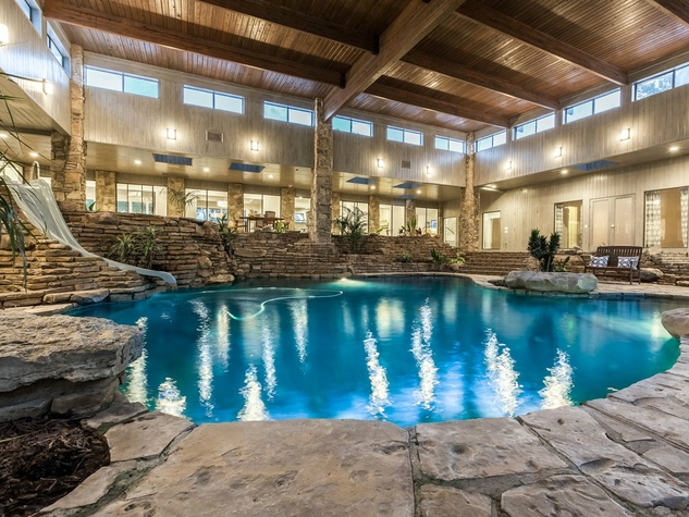 Indoor pool is just one unbelievable feature of bucolic DFW estate ...
