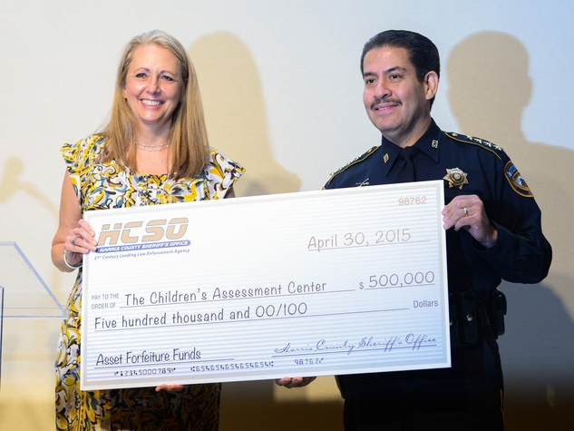 News, Shelby, Children's Assessment Center luncheon, May 2015, Elaine Stolte, Sheriff Adrian Garcia