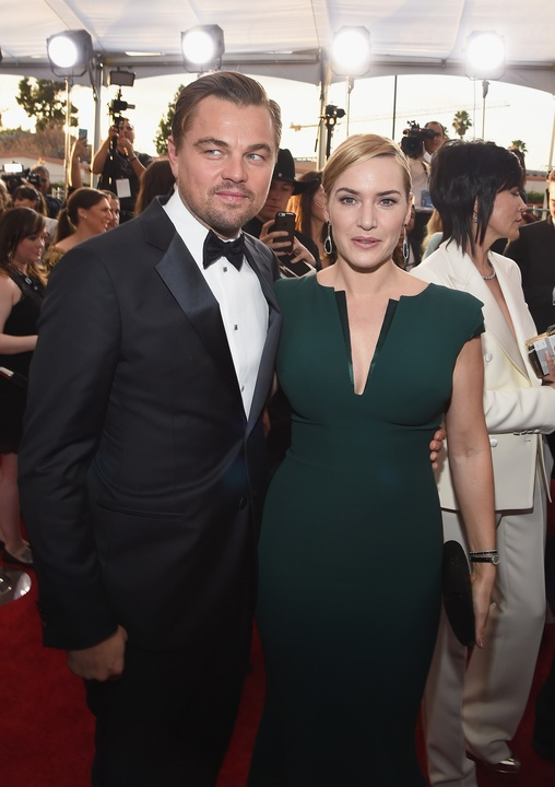 Leonardo DiCaprio and Kate Winslett at the Screen Actors Guilds Awards