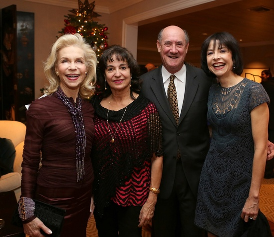 News, Shelby, Alley Theatre Holiday Party, December 2014, Lynn Wyatt, Mady Kades, Ken Kades, Josie de Guzman