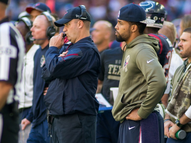 Texans Bengals Arian Foster sideline