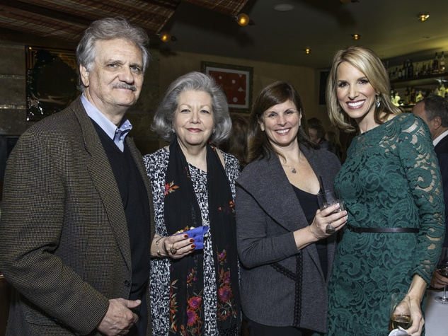 News, Shelby, Dave Ward Party, Dec. 2014, Don Kobos, Kathy Kobos, Tina Strickland, Ilona Carson
