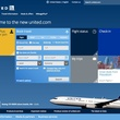 United Airlines beta site homepage