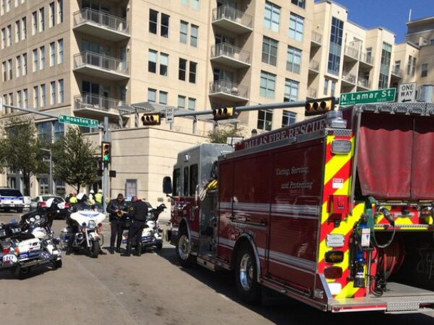 Dallas police at scene of active shooter downtown