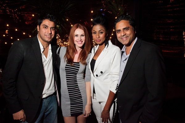 Fashion Houston wrap-up party at Hotel ZaZa, November 2012, Eddie Sajjad, Brenda Arens, Mariah Chaney, Ali Bhatti