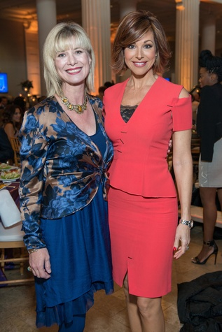 Dessa Turner, left, and Dominique Sachse at the Legacy Luncheon September 2014