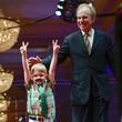 Carter Fielding and Roger Staubach, childrens cancer fund annual luncheon
