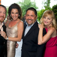 Rose Ribbon Fleming's Dinner Houston June 2013 Shelby Kibodeaux, Jessica Ross, Bruce Padilla, Kim Padgett