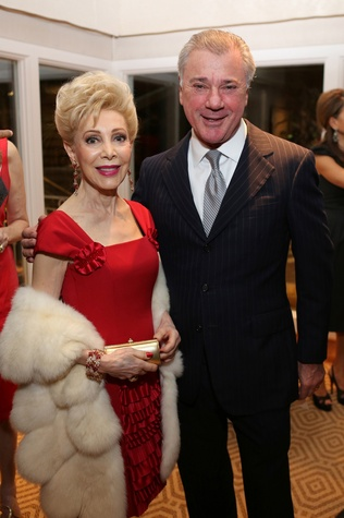 News, Shelby, Alley Theatre Holiday Party, December 2014, Margaret Alkek Williams, Jesse Marion