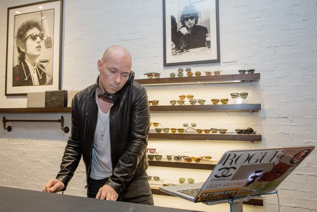 DJ at John Varvatos book signing