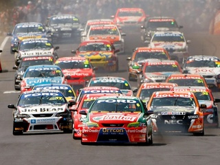 Aussie V8 Supercars race