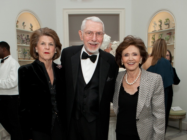Judy Margolis, from left, with Melvyn and Cyvia Wolff at the Rienzi Society dinner January 2014