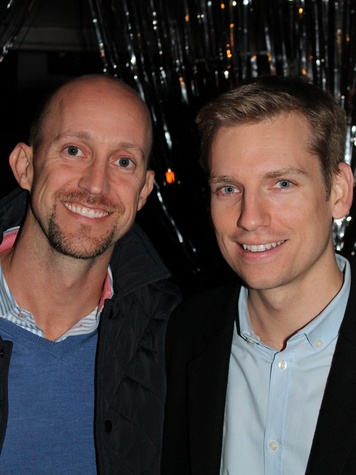 22 Mike Mahlstedt, left, and Kyle Dutton at the Eleven XI party November 2013