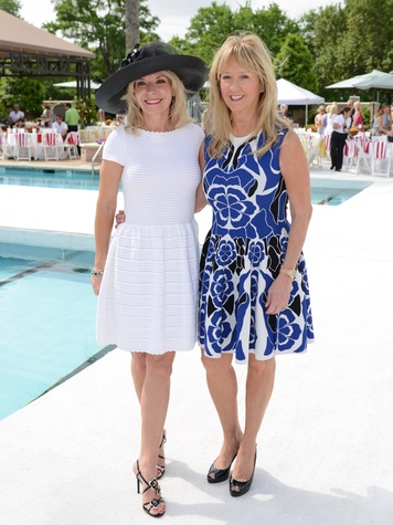 3 Cheryl Boblitt, left, and Mary Eads at the River Oaks Tennis Tournament luncheon April 2015