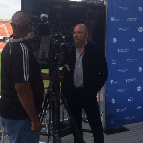Louis Messina interviewed at BBVA Compass Stadium Dec. 2014