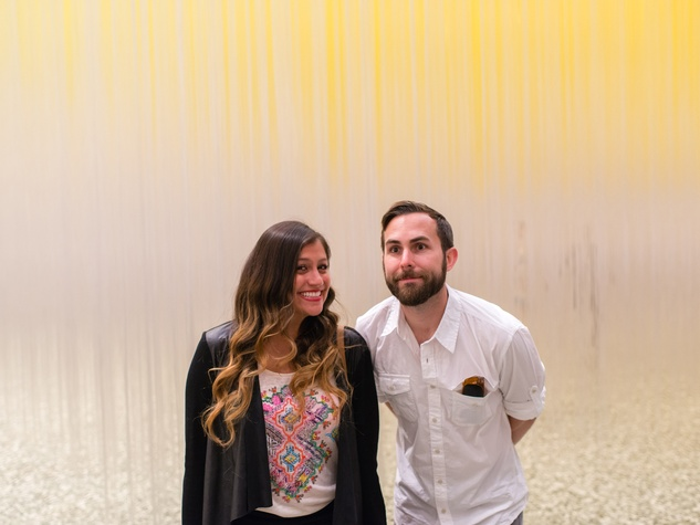 Joseph Grahan and Iliana Rodrigez at the Art Crowd Soto at the MFAH June 2014