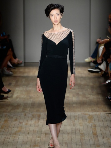 Fashion Week spring 2015 Jenny Packham black dress