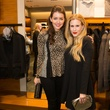 Amy Havins and Lynsey Eaton, zegna opening
