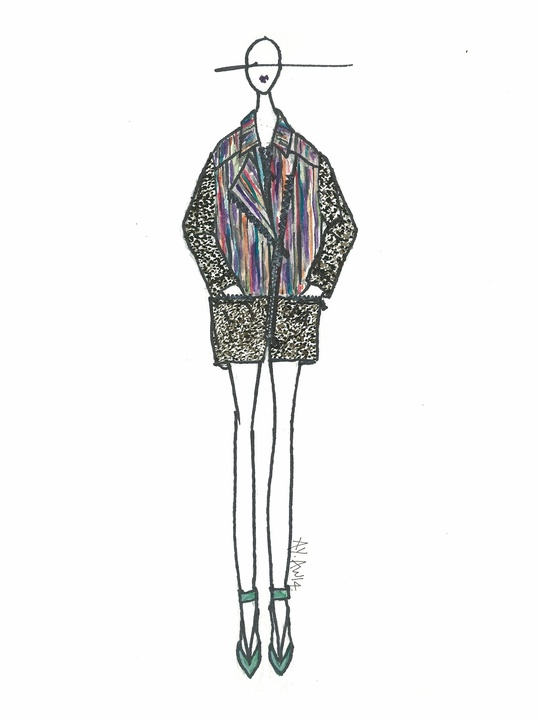 Designers' sketches fall 2014 collections Ann Yee