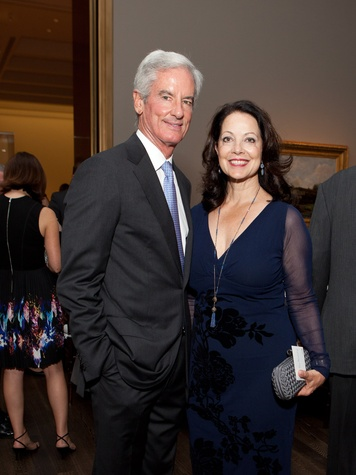 2 Paul and Karol Barnhart at the MFAH opening reception for American Adversaries October 2013