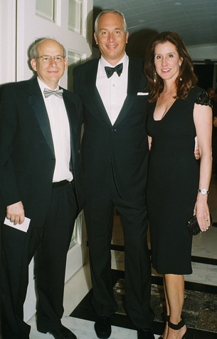 007A David Leebron, from left, with Bobby and Phoebe Tudor at the In Rice's Honor dinner October 2014