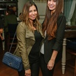 3 Mishelle Echeverria, left, and Jordan Newman at the CultureMap Social at Saint Genevieve October 2013
