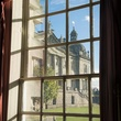 View of Houghton Hall's West Steps from the Picture Gallery.