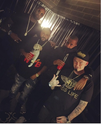 Jay-Z backstage, DJ Khaled, Paul Wall, Slim Thug