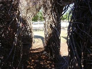 Art in the park Patrick Dougherty
