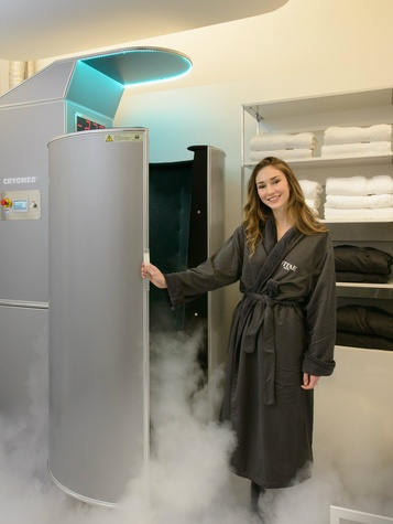 Vitae Med Spa cryotherapy chamber, Cedra Pharmacy