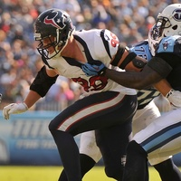 J.J. Watt Texans Titans hold