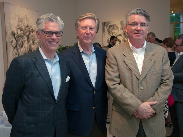 10 Ed Shoemake, from left, Richard Long and Ted Schultz at Musiqa's Spring Benefit May 2014