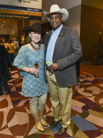 10 Leah Stasney and Curtis Clerkley at the RodeoHouston Wine Auction Dinner March 2014