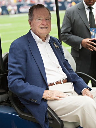 George H.W. Bush, Texans vs. Bills football game, Nov. 4, 2012