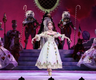 Melody Mennite as Clara in Houston Ballet The Nutcracker