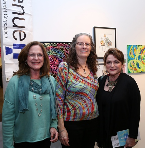 Marie Caplan, Mary Lawler and Beth Wolff at Art on The Avenue
