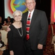 Polly and John Collier at the Medical Bridges gala October 2013