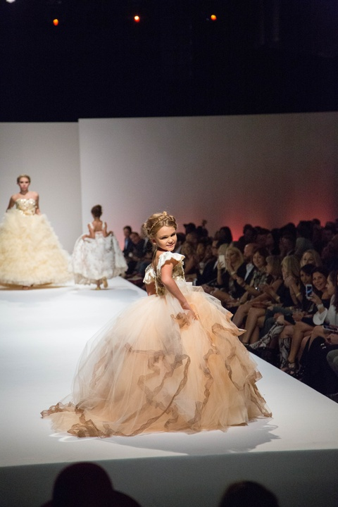 Fashion X little girls on runway in Bentley & Lace
