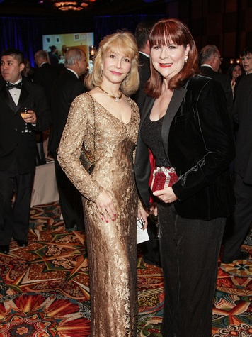 Susan Boggio, left, and Barabra Van Postman at the Citizens for Animal Protection Gala November 2013